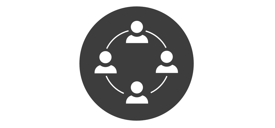 Icon of 4 people in a circle